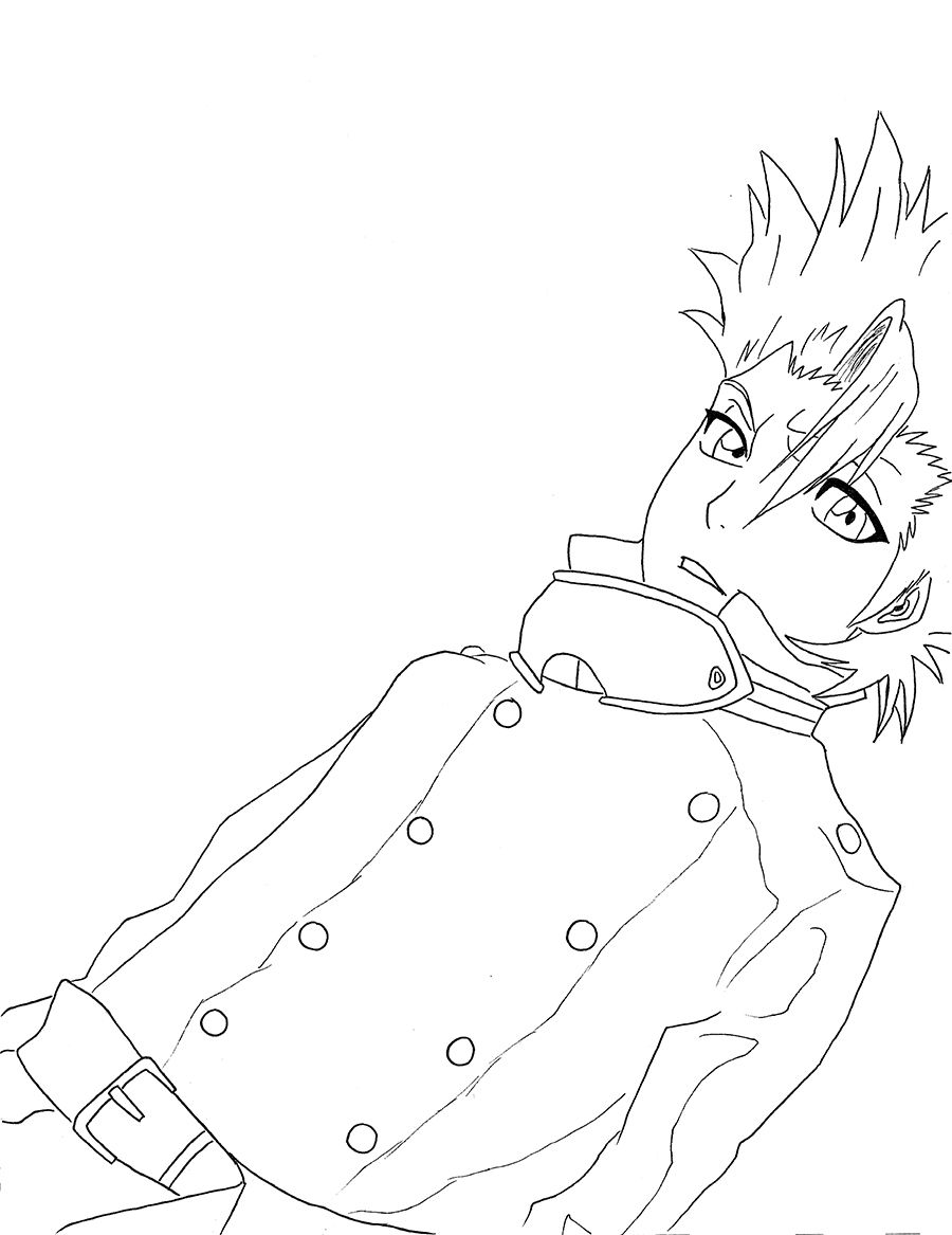 Bleach Coloring Pages 90527 Anime Kids Pedia [ 1167 x 900 Pixel ]