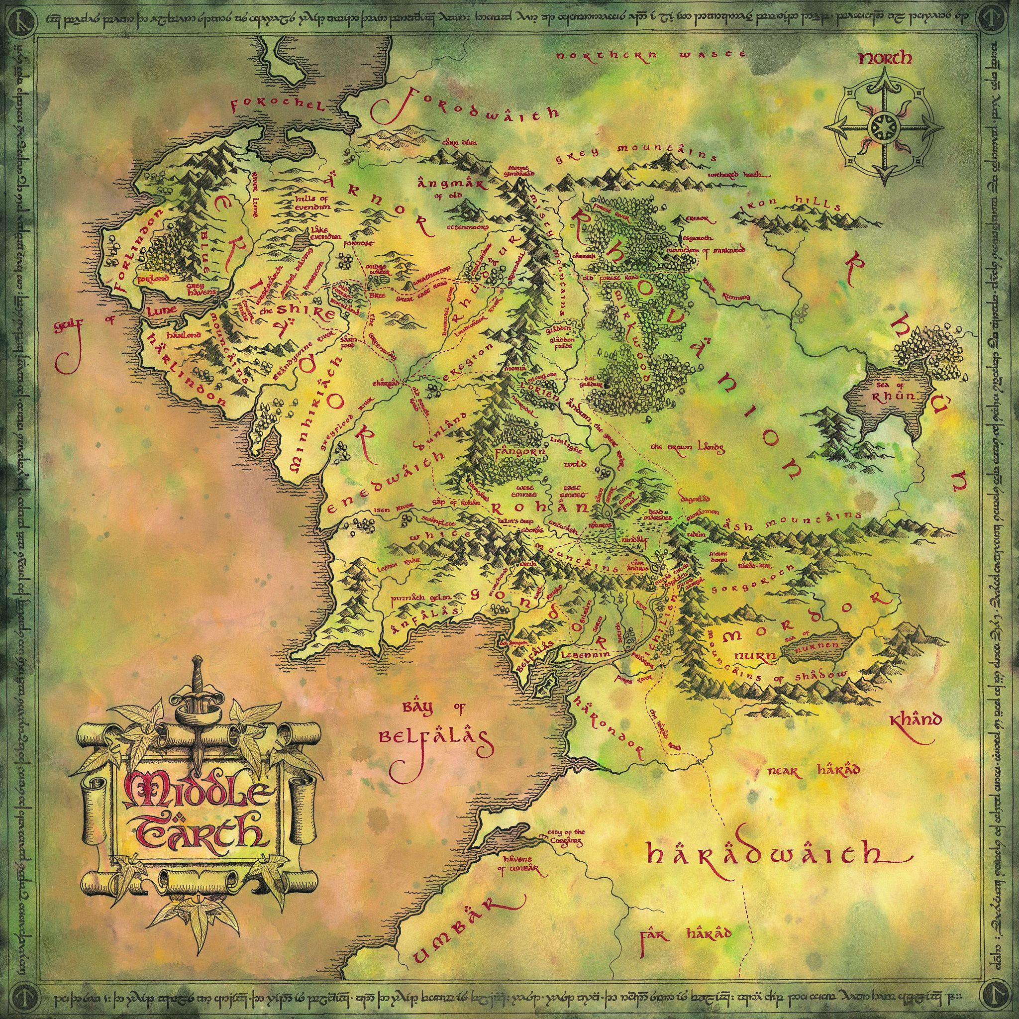 Mapa Tierra Media Hd.Mapa De La Tierra Media Hd Buscar Con Google Orta Dunya