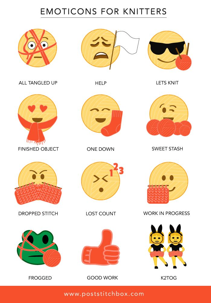 d381fcac87940e Emojis for knitters. If only these existed! 12 Emoticons for Knitters That We  Need ...