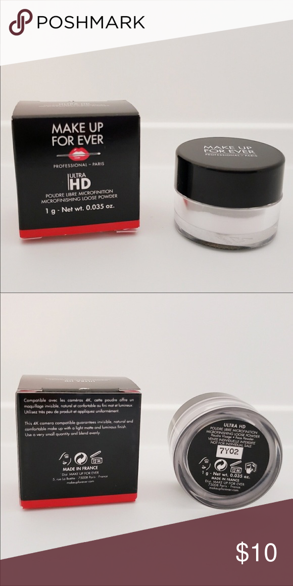 Make Up Forever loose powder Travel size loose powder from makeup forever. Brand new in a box. 1 gram/ 0.035 oz Makeup Forever Makeup