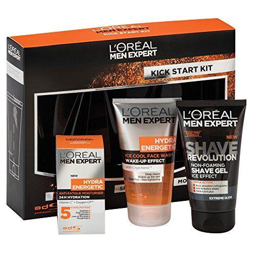 L Oreal Men Expert Hydra Energetic Kick Start Kit Gift Set Skin Care Shave Gel Loreal
