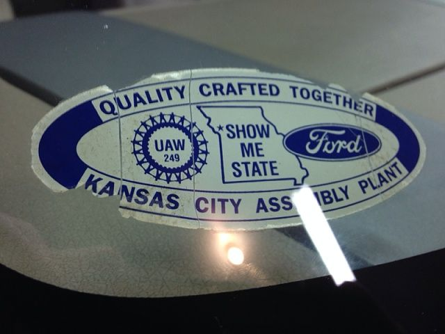 From The Windshield Of An F 150 Logo Sticker Plant Logos
