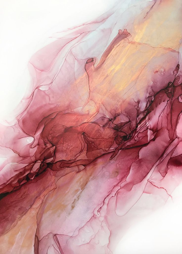 Pink Resin Acrylic Abstract Ink