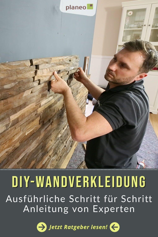Diy Wandverkleidung Ganz Einfach Selbst Montieren Wandverkleidung Holzwandverkleidung Verkleidung
