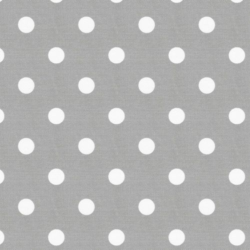 One Yard Polka Dot in Grey and White 100 by SASBoutiqueAndSupply, $10.00
