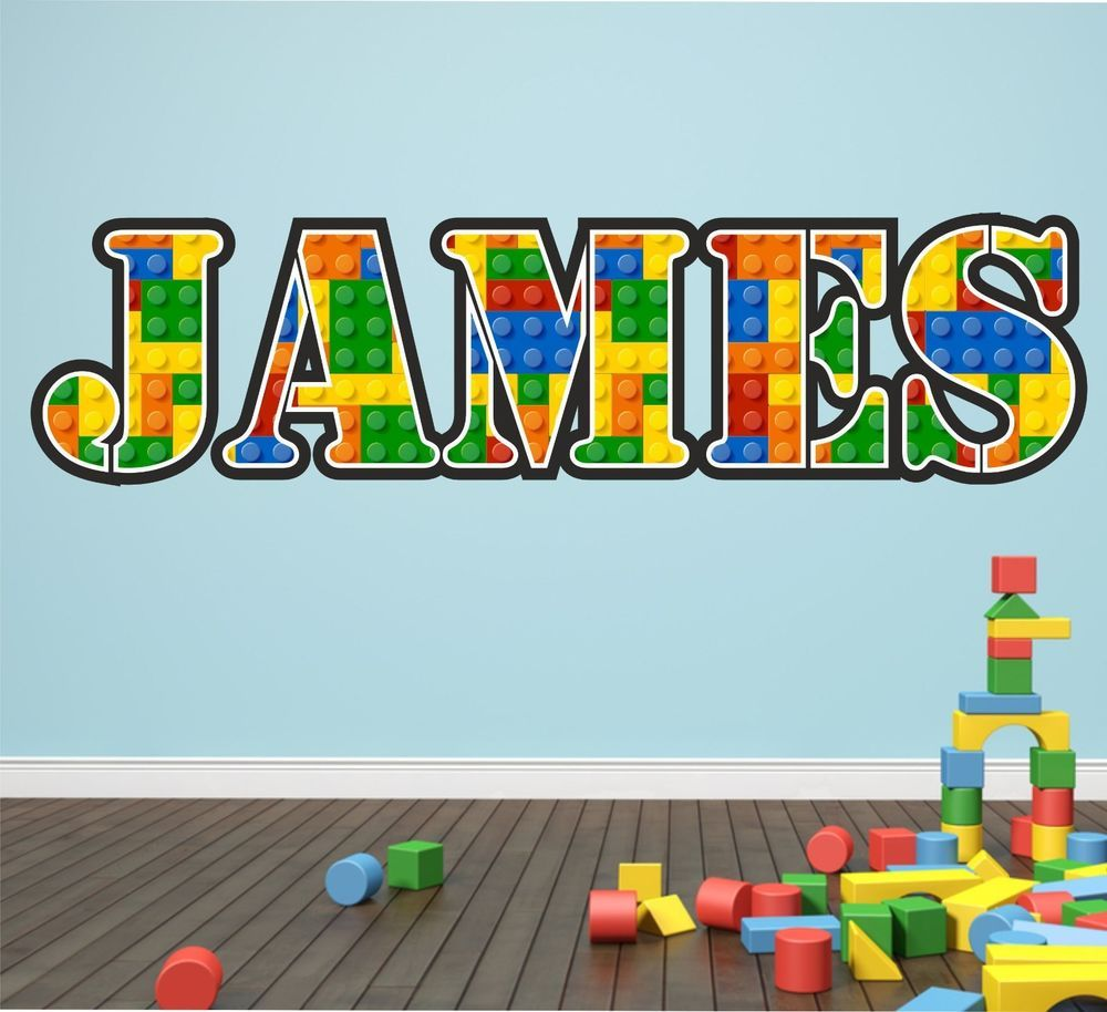 Personalised lego name wall art stickerdecal graphic decal personalised lego name wall art stickerdecal graphic decal bedroom amipublicfo Gallery