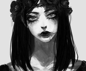 Creepy Scary Horror Anime By Jennifer Lovejohnson 5 On We Heart It Creepy Art Art Girl Art