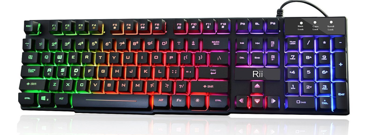 Rii Rk100 Multiple Color Rainbow Led Backlit Large Size Usb Wired Mechanical Feeling Multimedia Gaming Keyboard Keyboard Keyboards Good And Cheap