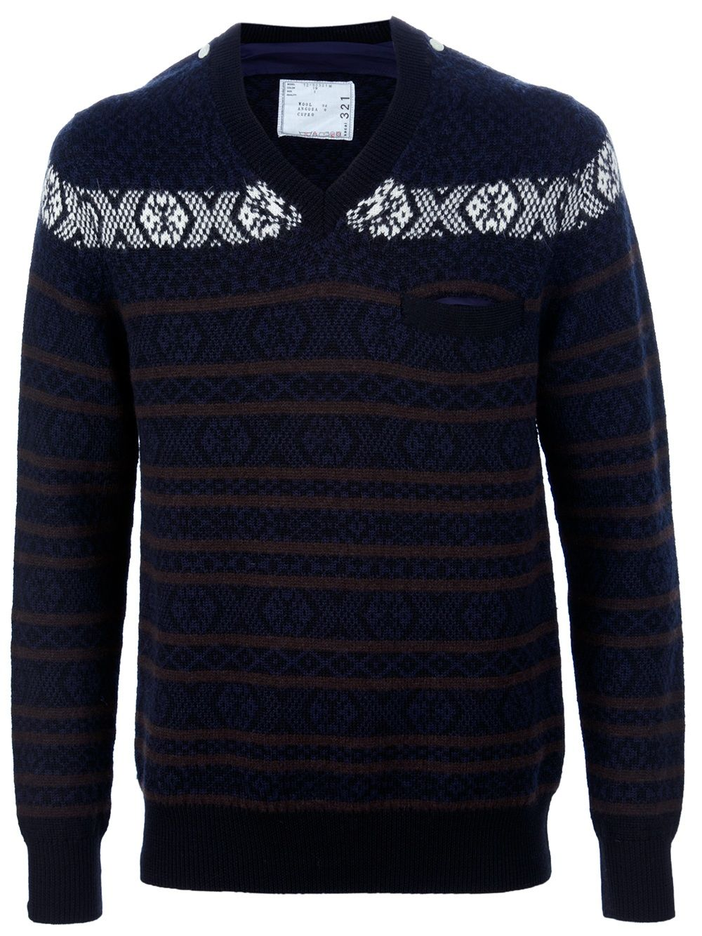 Sacai Fairisle Sweater - Biffi - farfetch.com