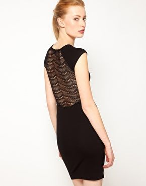 French Connection Body Conscious Dress With Lace Back Fashion Body Conscious Dress Bm Dresses