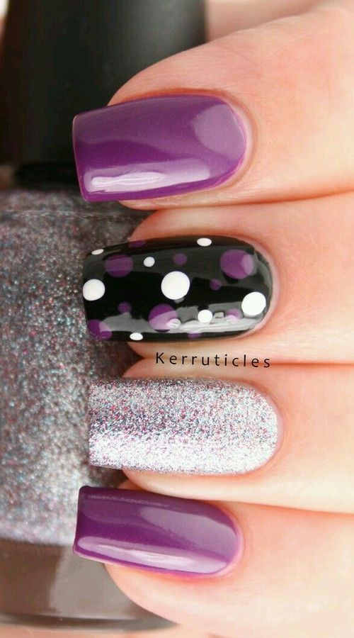 Nails Nail Art And Purple Image Nails In 2018 Pinterest Uña