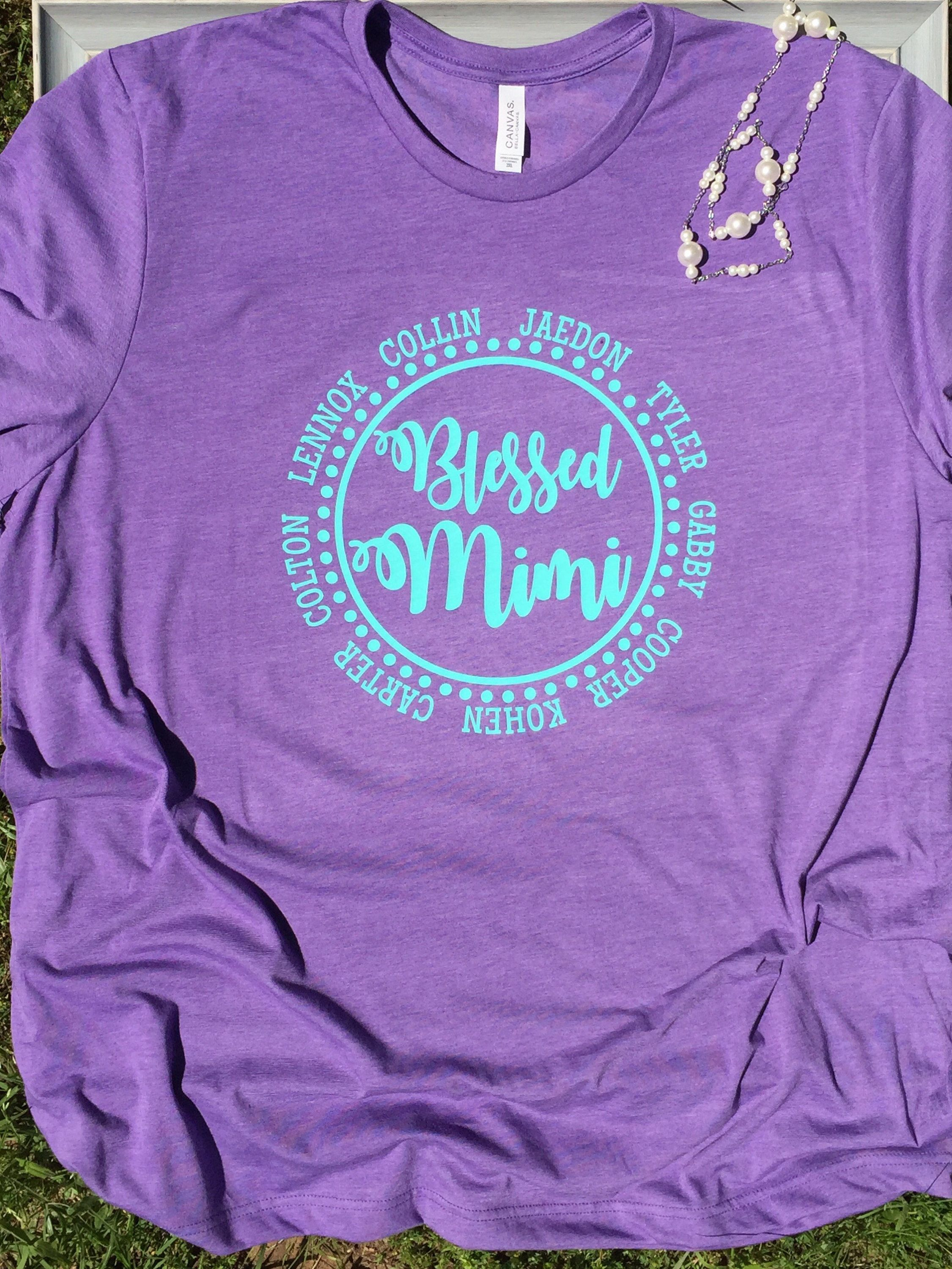 df782587 Blessed Mimi Nana Grammy shirt - Grandma T Shirt personalized with  grandkids names by SimplyStylishCo on Etsy