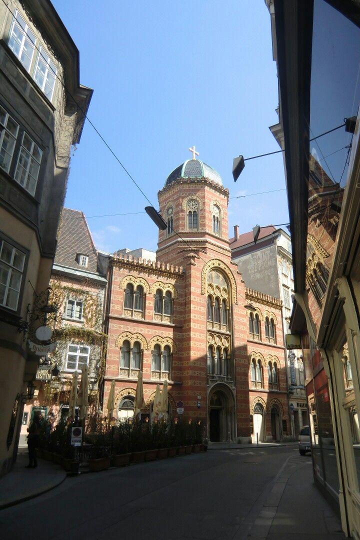 Vienna, Austria; 1,  Fleischmarkt; Griechenkirche zur heiligen Dreifaltigkeit (orthodox) im ehemaligen Griechenviertel