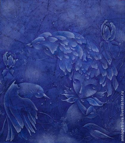 Картины с синими цветами