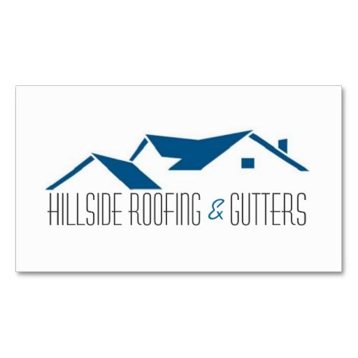 Roofing gutters construction business card construction business roofing gutters construction business card reheart Image collections