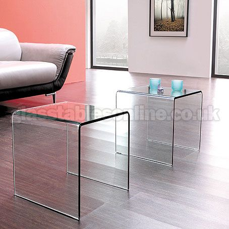 Pair Of Glass Side Tables | Glass Coffee Tables | Pinterest | Glass ...