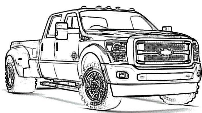 Unique Ford F350 Truck Coloring Pages Nicoloring
