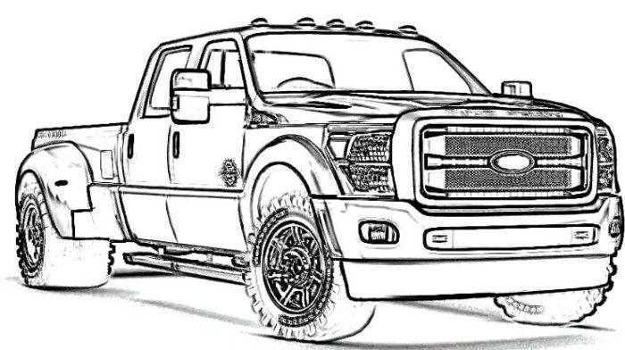 Ford Truck Coloring Pages Truck Coloring Pages Ford Truck Old Trucks