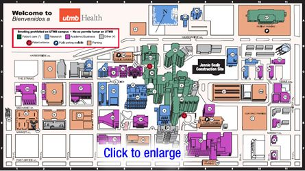 UTMB Health Galveston Campus Map | New Students | Pinterest