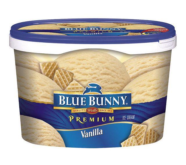 Blue Bunny Vanilla Ice Cream Packaging Blue Bunny Ice Cream Blue Bunny Ice Cream Packaging