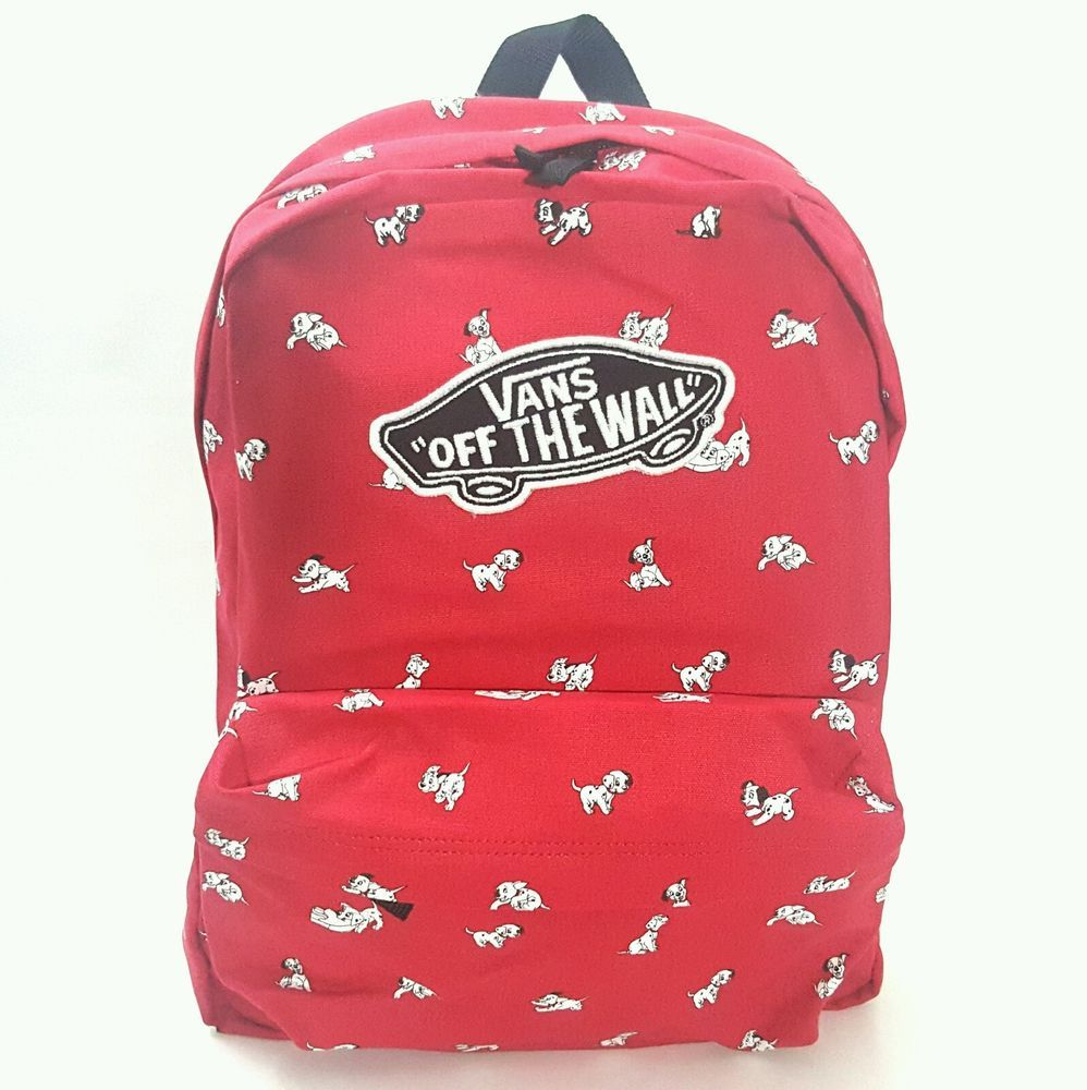 New DISNEY VANS Backpack 101 Dalmatians Dogs Red School Bag Bookbag  VANS   Backpack 670c5664551