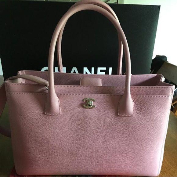 80e0c0c44d3f Authentic Chanel Pink Executive Cerf Tote Bag % Authentic Chanel Pink  Executive Cerf Tote Bag