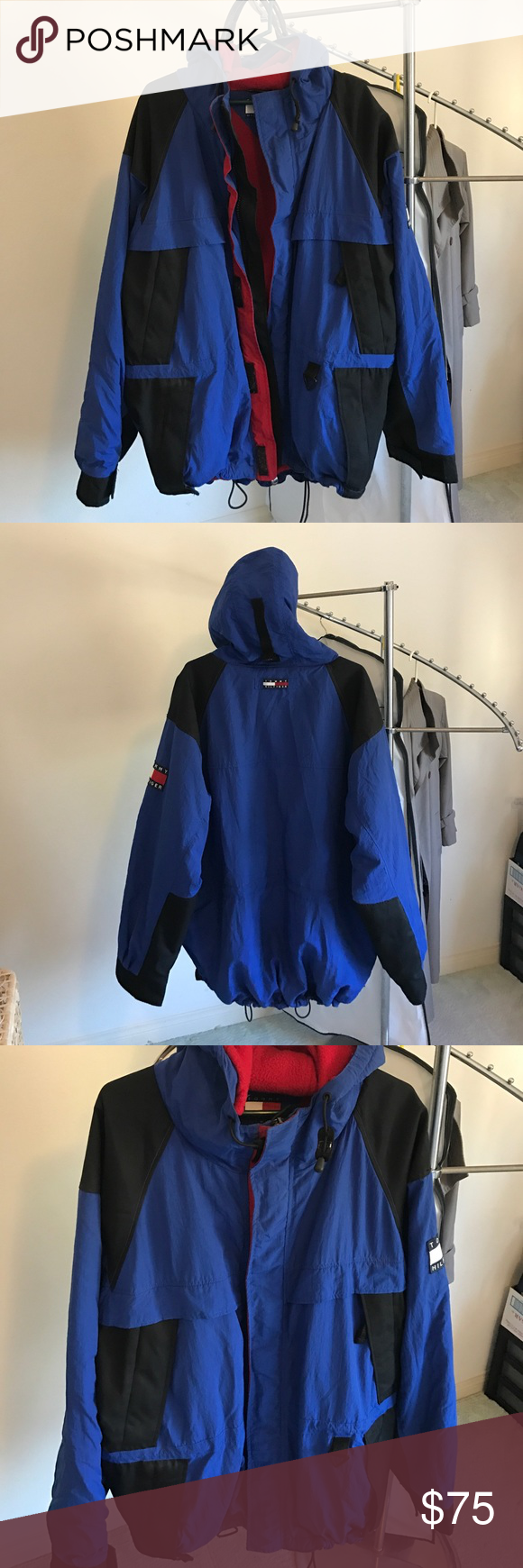 Tommy hilfiger vintage fleecelined hooded jacket d tommy