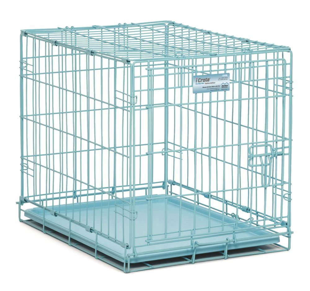 Midwest Homes For Pets Dog Crate Icrate Single Door Double Door Folding Metal Dog Crates In 2020 Dog Playpen Pet Playpens Puppy Playpen