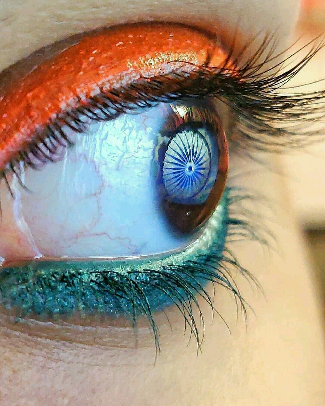 Stylish Eye Design With Indian Flag Color For Independence Day In 2020 Indian Flag Images Indian Flag Colors Indian Flag
