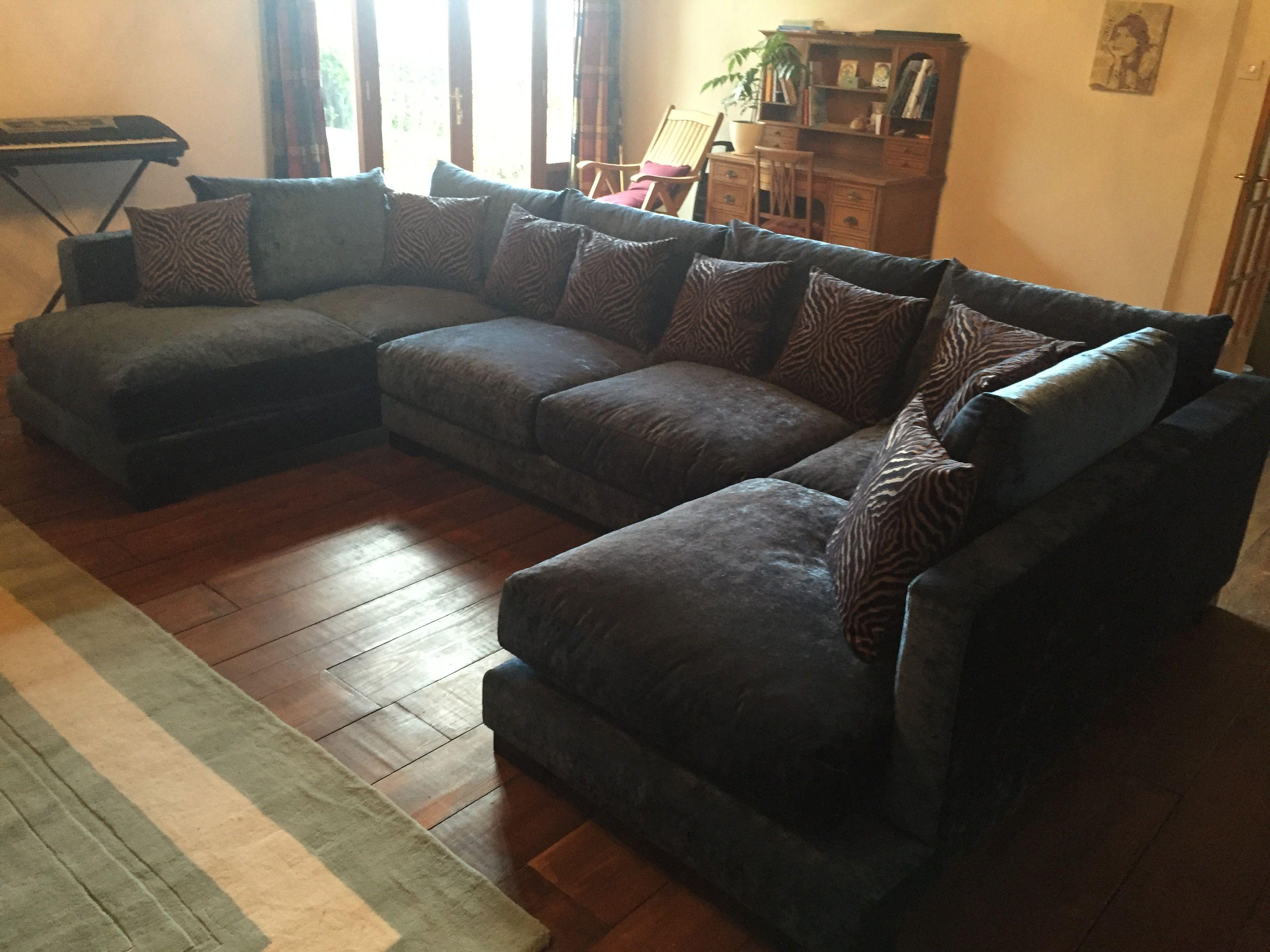 squashy sofas uk navy blue microfiber sofa u shaped 355 cm wide x 205 each side  cosas