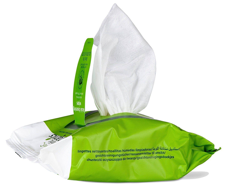 emerginC Scientific Organics Facial Cleansing Wipes, 30