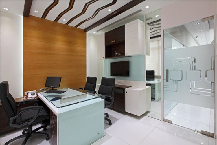 This Office Is Stunning It Has An Appealing Design Which Is Great