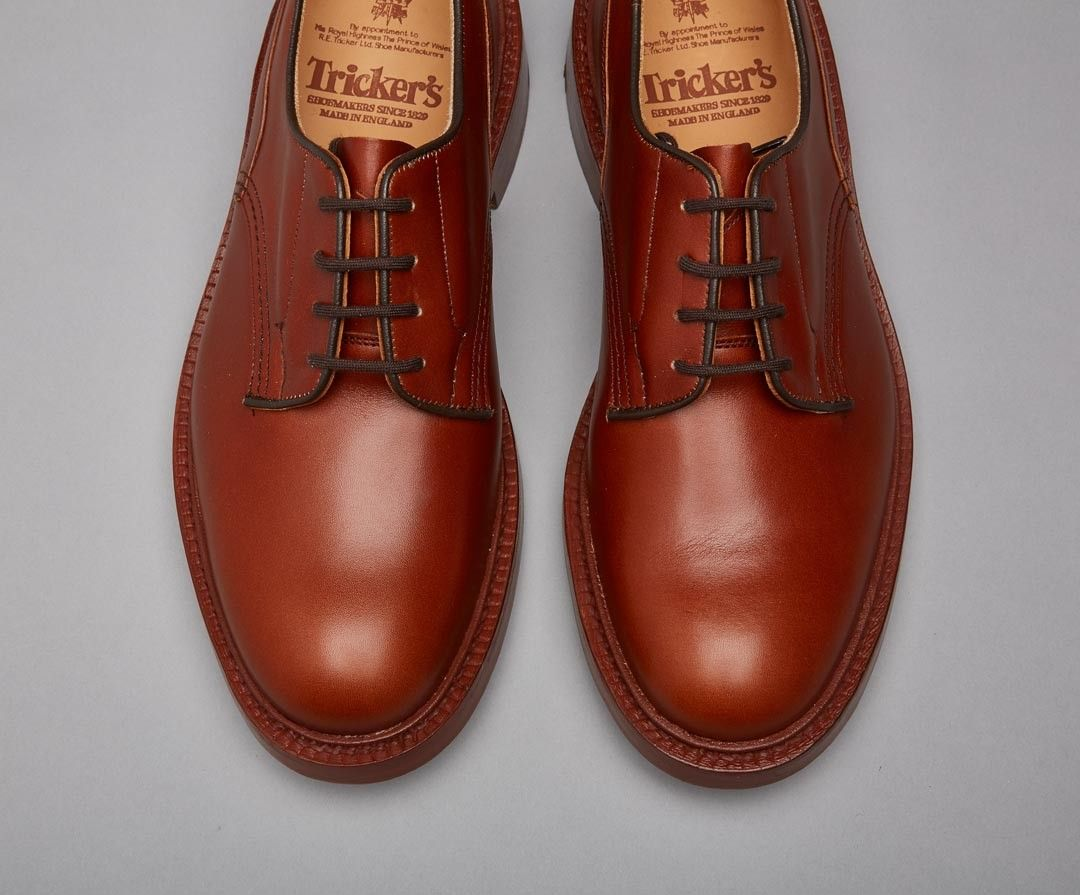 Woodstock Marron Plain Derby Shoe