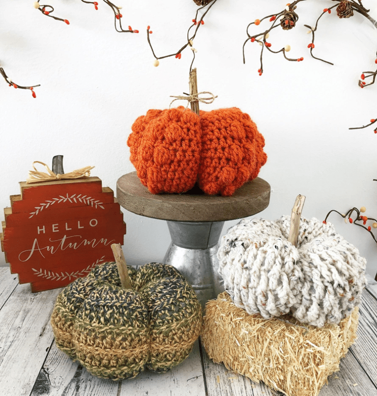 Pumpkin Set {Crochet Pattern} - Sierra's Crafty Creations