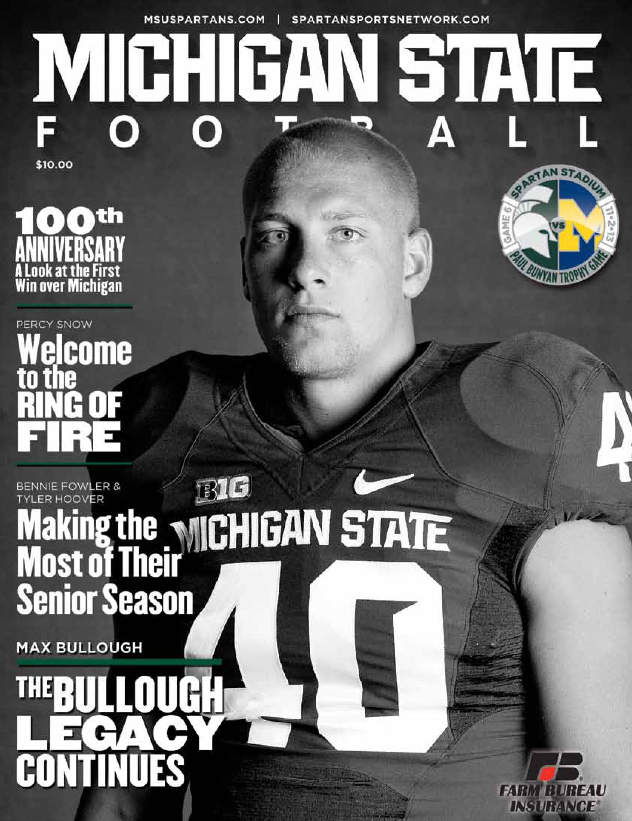 Football Game Day Program For Saturday S Game Vs Michigan Pick Up Your Program And Pi Michigan State Spartans Football Michigan State Football Michigan State