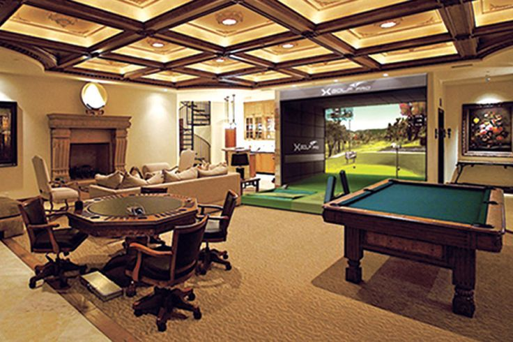 Image Result For Man Cave Golf Simulator Pool Table