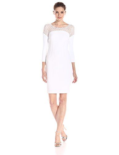 d0f5666e58f8 Elie Tahari Womens Suzie Dress Optic White 6 ** Want to know more, click on  the image. (This is an affiliate link) #FashionDresses