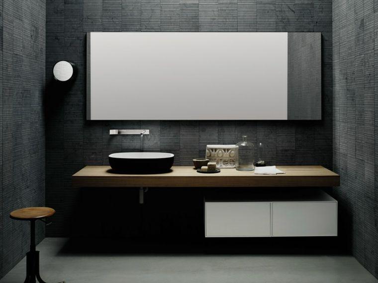 Piastrelle bagni moderni colore nero in abbinamento al bianco