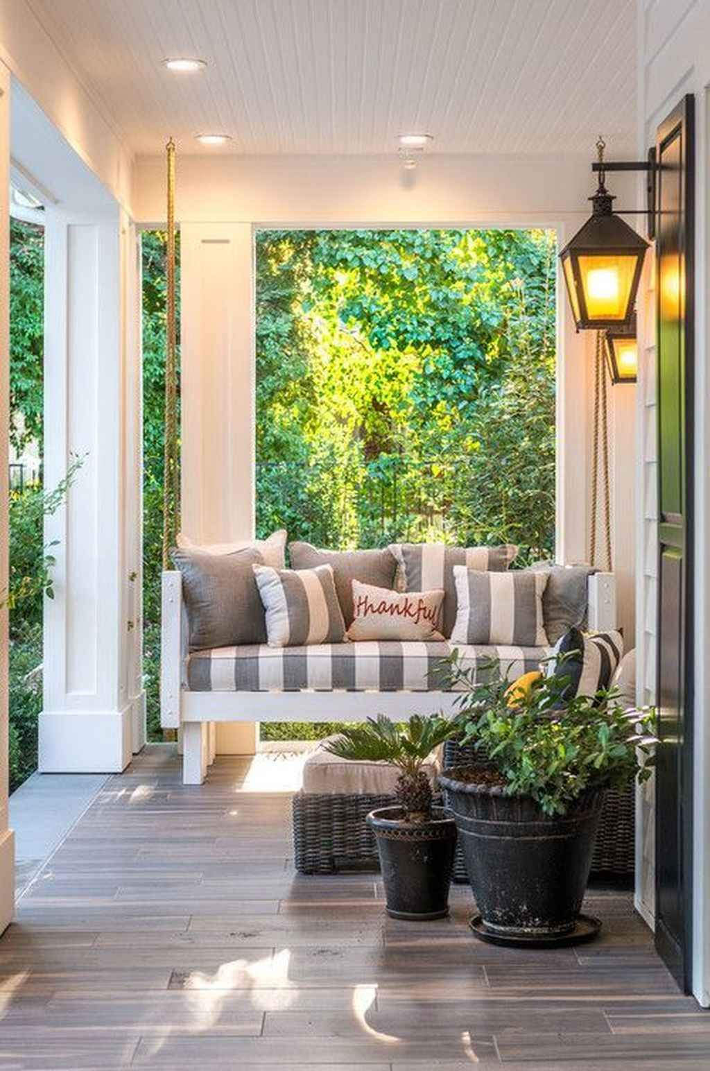 75 Inspiring Farmhouse Porch Swing Outdoor Ideas Porches