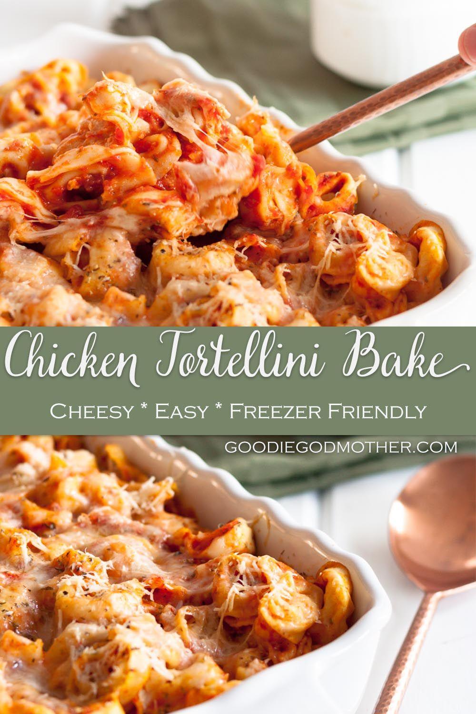 Chicken Cheese Tortellini Casserole