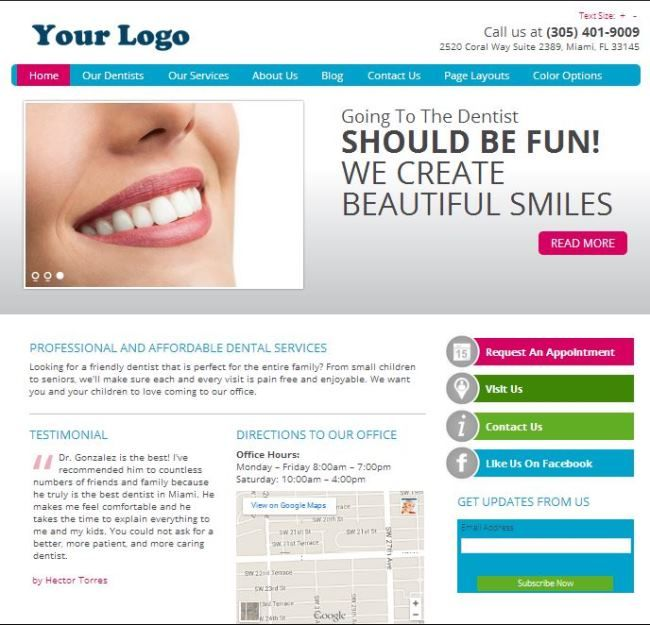 Dentists , #Doctors , and #THERAPISTS  We have AMAZING Website - doctor office website template