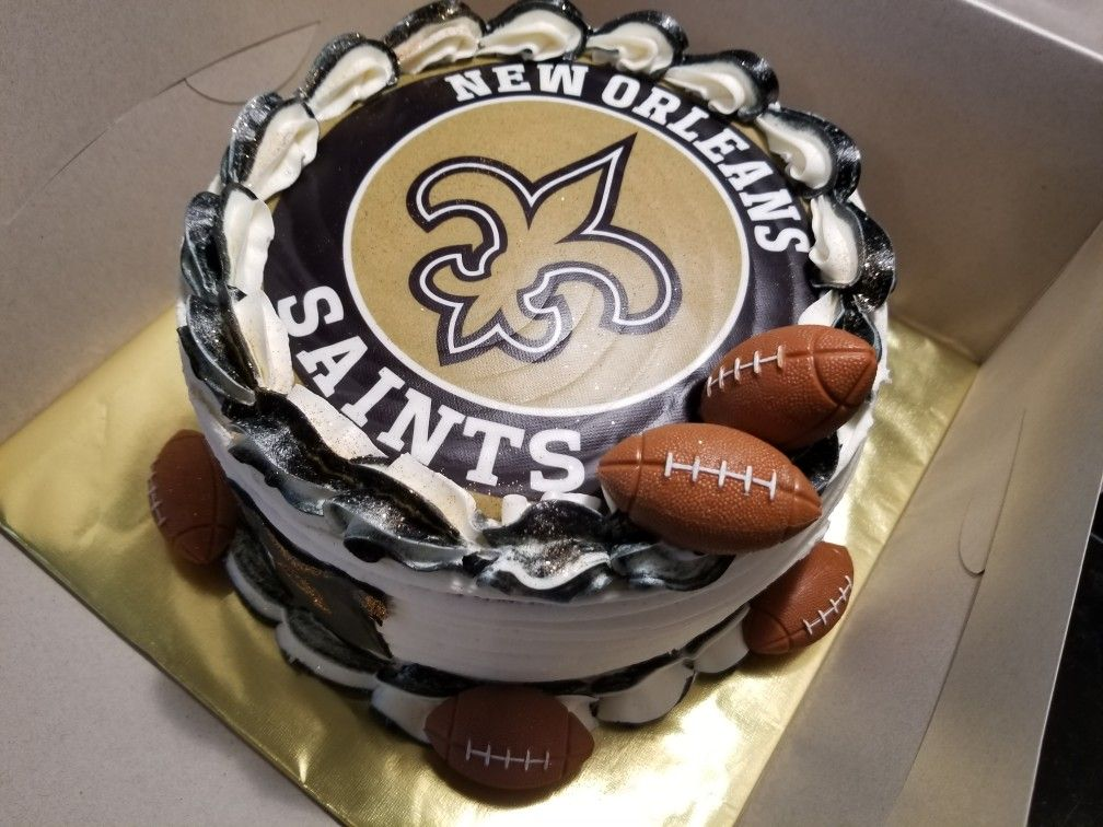 Astounding Grooms Cake New Orleans Saints Red Velvet Cake With Cream Birthday Cards Printable Trancafe Filternl