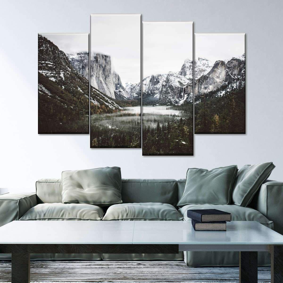 Yosemite Winter Magic Multi Panel Canvas Wall Art In 2020 Canvas Wall Art Multi Panel Canvas Wall Art