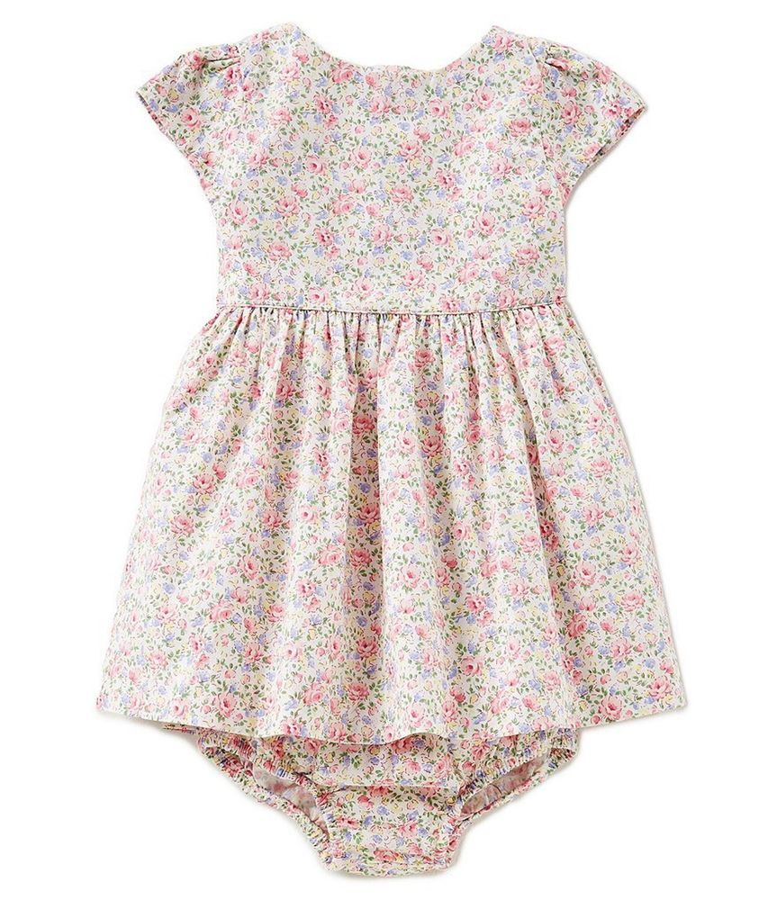 a53710bd712 RALPH LAUREN POLO Floral Print Fit-and-Flare Cotton Dress, Baby Girls 9 M  NWT #RalphLauren #CasualFormalParty