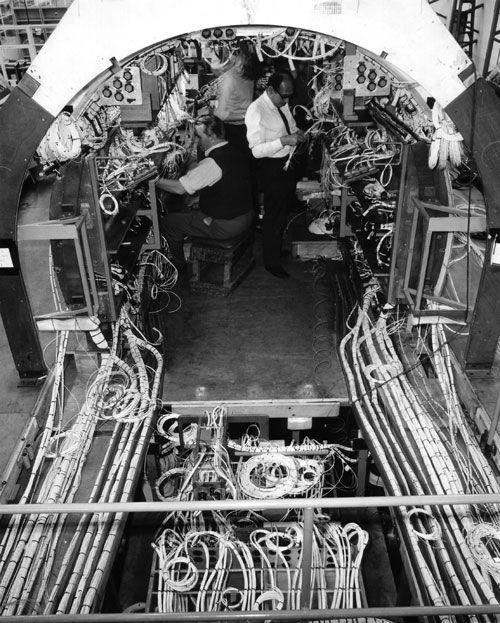 Electrical-wiring-harness-at-BAC-Weybridge | Concorde ... on