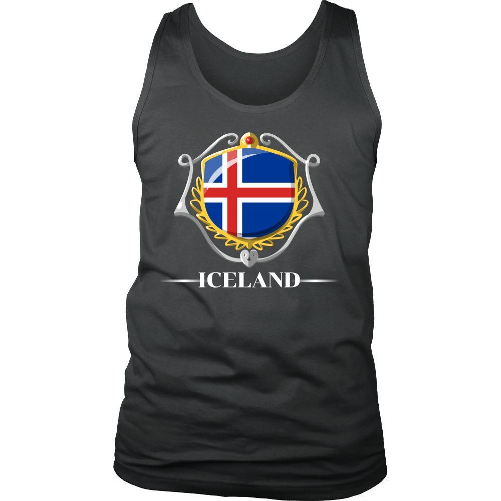 Iceland Pride Patriotic Vintage Flag Tank