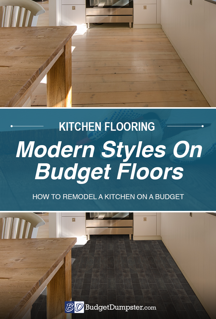 How to Save on Kitchen Flooring   Kitchen Remodel On A Budget in ...