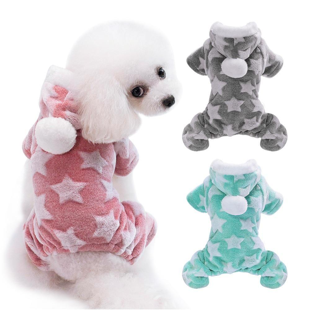 Cute Dog Clothes Jumpsuit Warm Winter Puppy Cat Coat Costume Pet