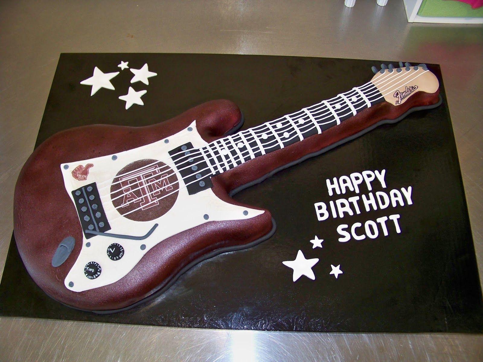how to make a guitar cake with fondant