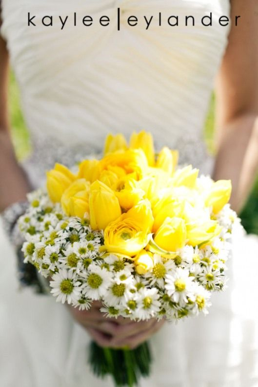 Bridal bouquet of yellow ranunculus yellow tulips and white bridal bouquet of yellow ranunculus yellow tulips and white september flower mightylinksfo